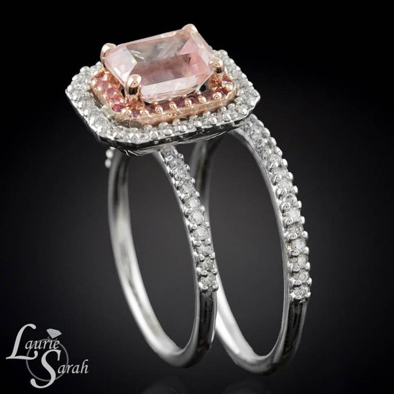 emerald cut engagement ring pink sapphire by
