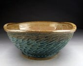Handmade Ceramic Vessel Sink For Your Bathroom Remodeling- Square with Sculpted Design - Made to Order