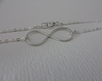 SALE 15% OFF - Sterling Silver Infinity Anklet- Infinite Love Summer Jewelry