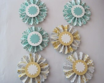 Paper Rosettes Handmade Double Sided Lollies 3 inch