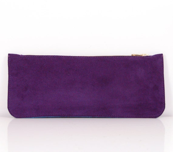celini handbags - celine purple leather clutch bag