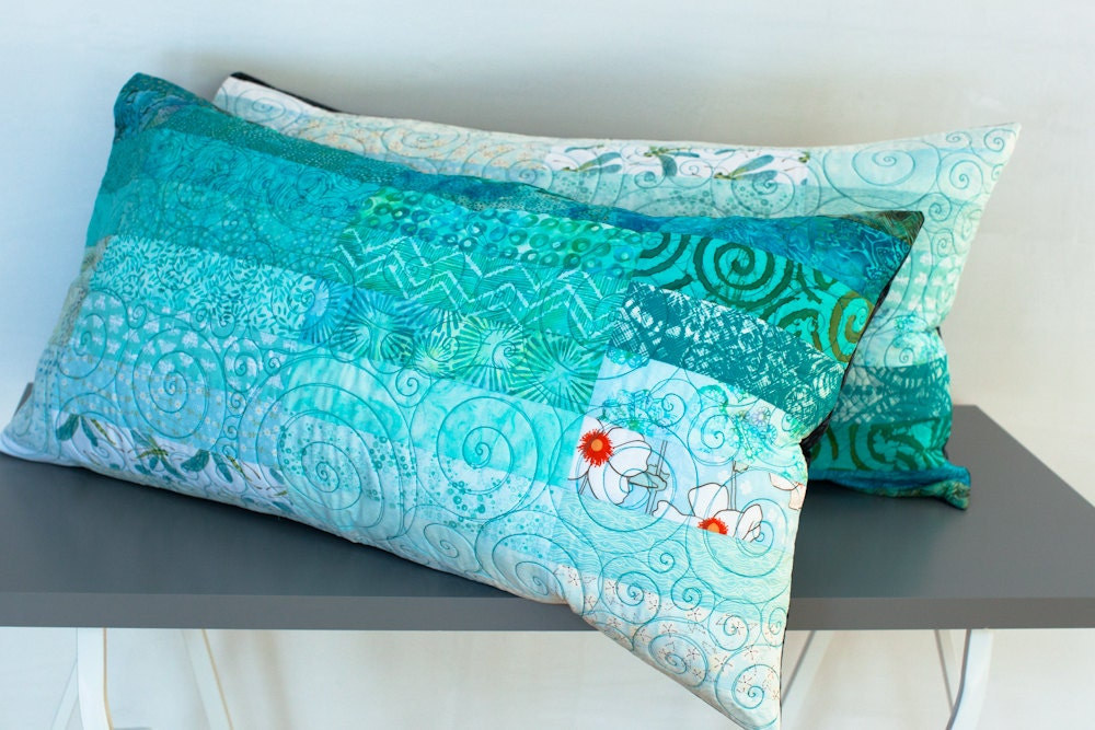 Quilted pillow shams king size pillow shams by btaylorquilts for How big are king size pillows