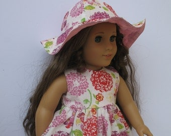"Clothes for American girl,Journey Girl,Madame Alexander,Battat,Springfield,Gotz 18"" Doll Dress and Hat"