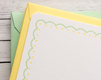 mint + lemon baby shower thank you cards -  {set of 16} gender neutral baby shower thank you cards, quantity discount baby shower thank you
