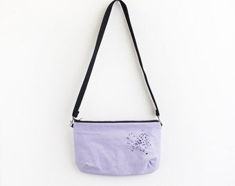 Lilac canvas shoulder Bag