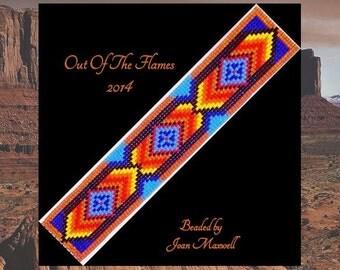 Bead PATTERN Makoto Cuff Bracelet Loom Square Stitch