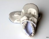 Baby Shoes Boy Girl SWAG Booties Toddler Infant Newborn Slippers Shoes Grey Gray White Big Elephants Yellow Non Slip Soft Soled Shower Gift