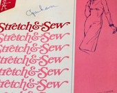 Vintage 70's Sewing Pattern Stretch & Sew 1500 Sheath Dress Bust 30 to 42 inch Complete Uncut