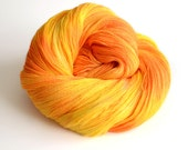 Apollo - Lace Weight - Lace Weight - Merino and Silk - Orange and Yellow - Greek Mythology - Tonal Yarn