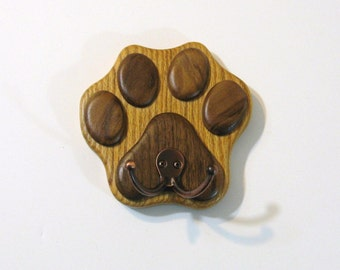 Paw Wall Hook Hanger Made Of Two Woods
