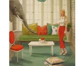 To Catch A Cashew Thief.  Art Print.