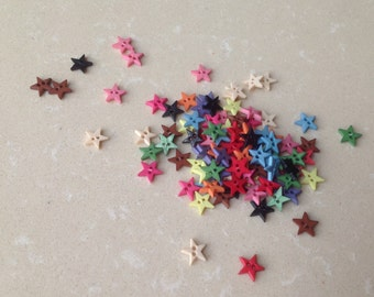 99pcs+ 8mm Pentangle/Star Buttons for Baby/Babydoll Clothes