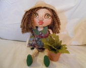Grace Rag-A-Boo, A Cloth Art Doll by Liz Parent