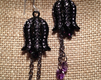 Amethyst Bell Earrings