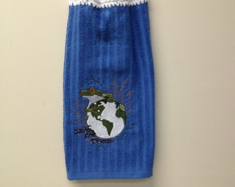 Save the Trees  Embroidery Towel