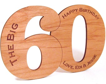 Wooden Birthday Card - Wood Cut Card - Any Age