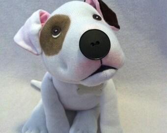 Simple Pitbull Plush-Made to Order