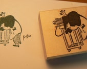 Small photographer retro style rubber stamp WM P34