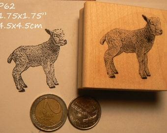 Lamb rubber stamp P60