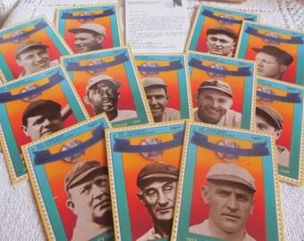 SALE Vintage 1992 Baseball Hall Of Fame Heroes, NIB 12 Card Stamp Set, Legal Postage, Baseball Cards, Postage Stamps Was 14.99 Now 12.99