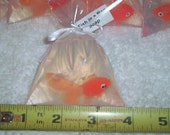 Fish in a Bag soaps 40  party favor size  Weddings, birthdays, showers, swim or carnival party