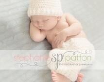 Crochet Hat pants set ,baby hat,Baby pants newborn hat newborn pants ,Size newborn 0-3-6-12 months custom colors