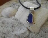 Ocean...blue sea glass necklace