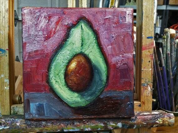 Avocado Painting Original Oil Painting By LisaMDSkinnerArt