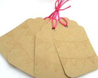 Garland Gift Tags - Set of 4 Tags