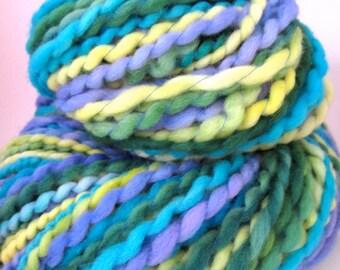 Handspun Polwarth Art Yarn 115 Yards