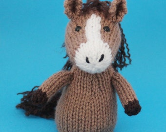 Horse Toy Knitting Pattern (PDF)  Legs, Egg Cozy & Finger Puppet instructions included