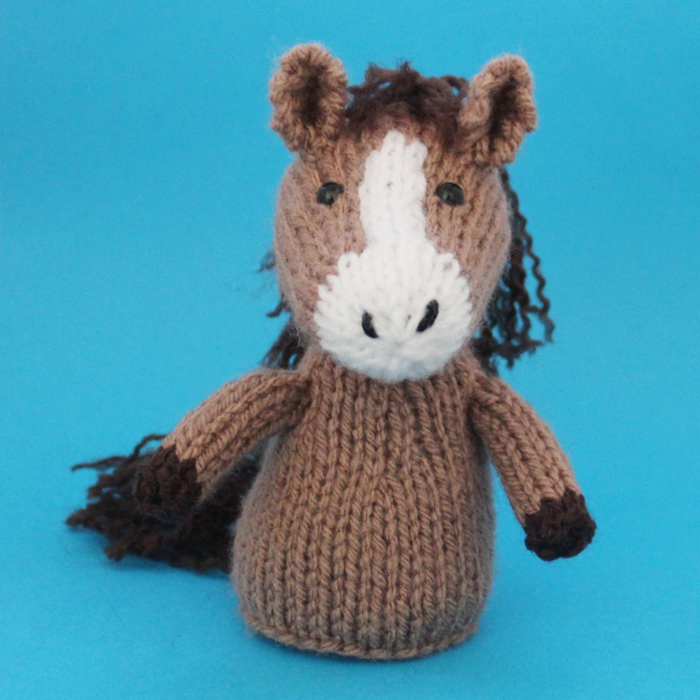 Knitting Patterns Toys Finger Puppets : Horse Toy Knitting Pattern PDF Legs Egg Cozy & Finger