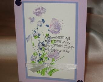 Watercolor Flower in Purple Colors