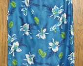 Vintage Cotton KAIKAMAHINE HAWAIIAN Sheath Dress - Size Medium - ALOHA Dress