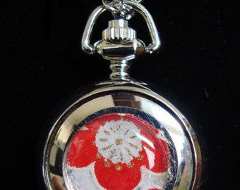 Necklace Pendant Watch Red Plum Blossom