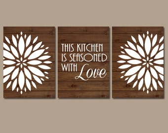 Maroon gray wall art bedroom kitchen wall art canvas by - Kitchen canvas wall decor ...