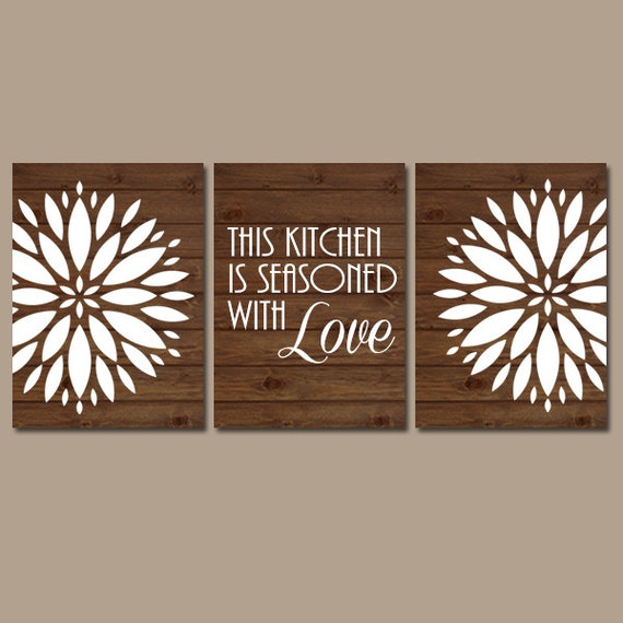 Kitchen wall art canvas or prints kitchen quote by trmdesign for Kitchen wall prints