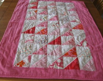 Light Weight Spring or Summer Quilt for a Baby Girl