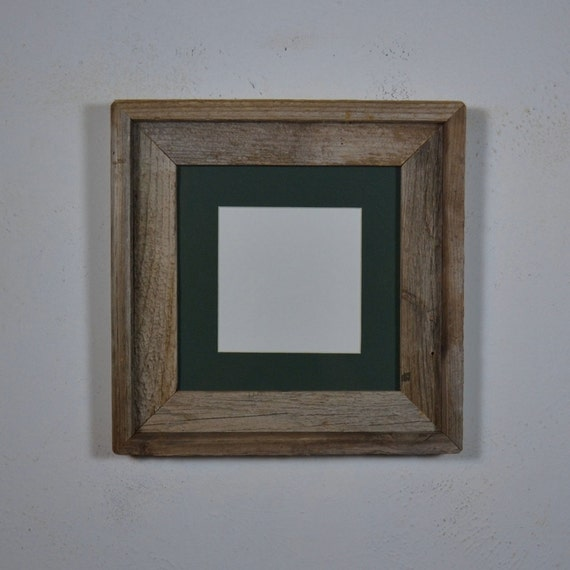 8x8 square wood picture frame with mat for 6x6 or by ...