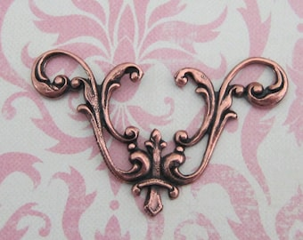 Antique Copper Filigree Finding 2969C