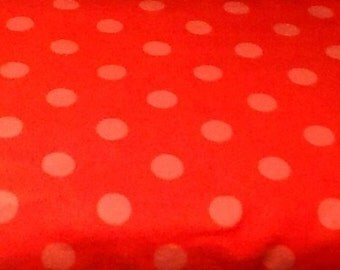 ORANGE DOTS flannel lounge pants/pajama pants children's sizes 0-3 to size 16.  Contact me for adult sizes small to 3x.