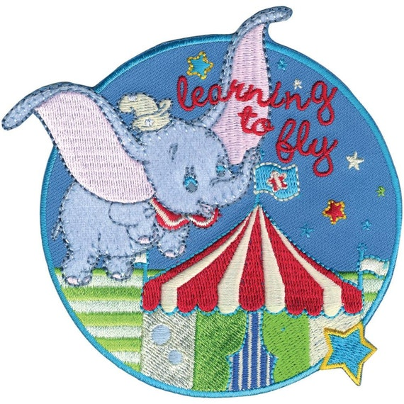 Disney dumbo flying circus iron on applique embroidered