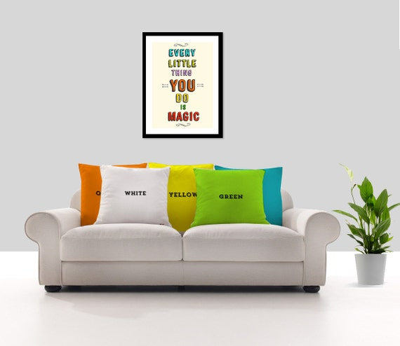 Throw Pillow Trends : Items similar to Colors Decorative throw pillow cover - Modern pillow cover - Modern trends ...