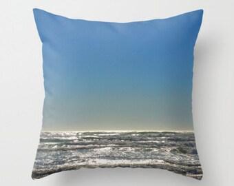 Beach Waves Beach PIllow Ocean Scene Beach Decor Waves Pillow Wave Print Beach Pillow Sweet Things Summer