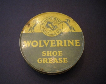 Vintage Wolverine Shoe Grease Tin
