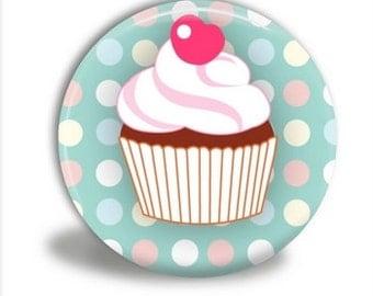 Cupcake Pocket Mirror, Cupcake Mirror   PM80