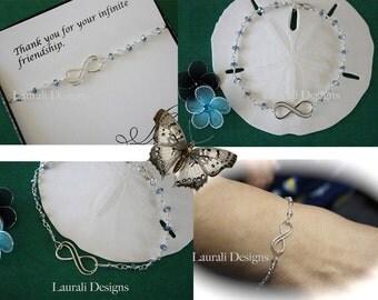 Infinity Friendship Bracelet, Mother, Infinity Bracelet, Karma Bracelet, Green, Delicate Bracelet, Infinity Jewelry