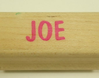 Joe Wood Mounted Rubber Stamp