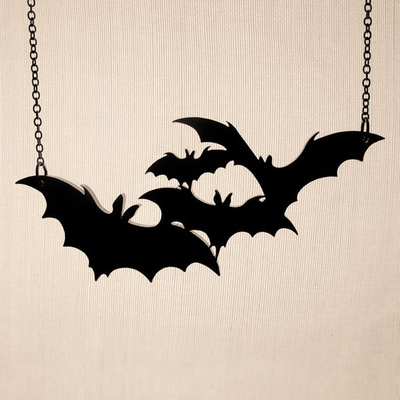 Twinkle, twinkle little bats How I wonder what you're at Necklace - Laser Cut Necklace (C.A.B. Fayre Original Design)