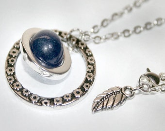 Reversible Blue Lapis New Moon Silver Pendant Necklace/ GBK Pre Emmy Celebrity Gift Lounge Event/ Press Gifting/ The Artisan Group